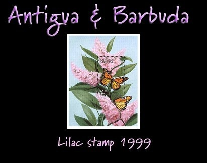 Antigua and Barbuda lilac stamp