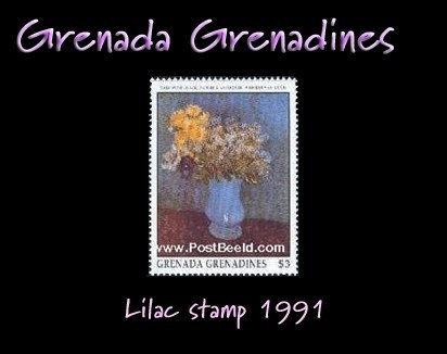 Grenada Grenadines lilac stamp